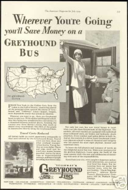 Yelloways Greyhound Lines Bus (1929)