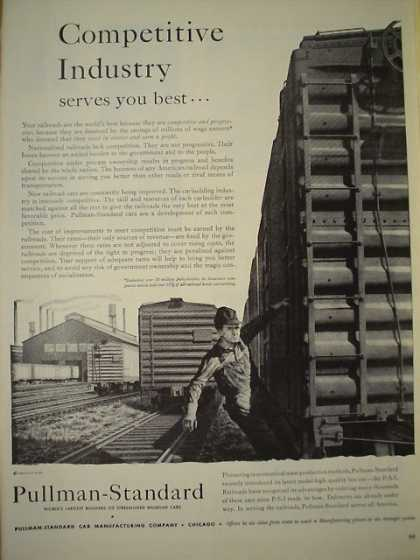 Pullman Standard Railroad Cars Competive Industry (1947)