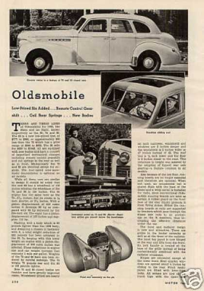 """Oldsmobile"" Article (1938)"