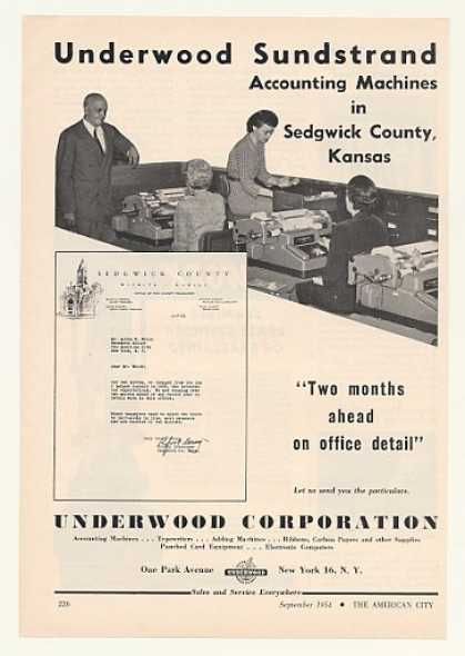 Sedgwick County KS Underwood Accounting Machine (1954)