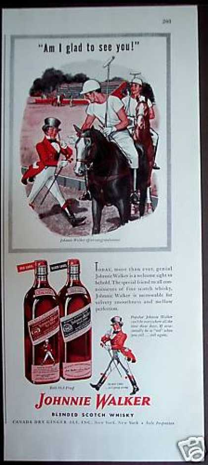 Johnnie Walker Whisky Horses Polo (1946)