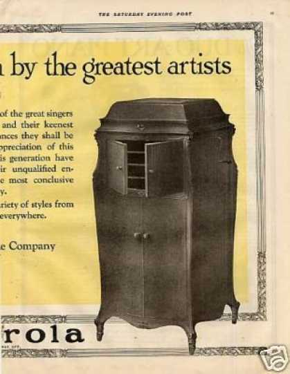 Rca Victor Victrola Ad Centerfold (1921)