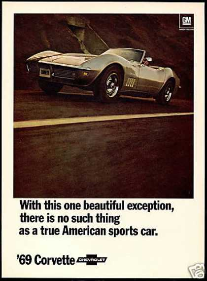 Chevrolet Corvette Conv. American Sports Car (1969)
