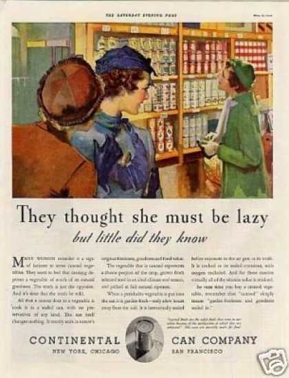 "Continental Can Company Ad ""They Thought She... (1934)"