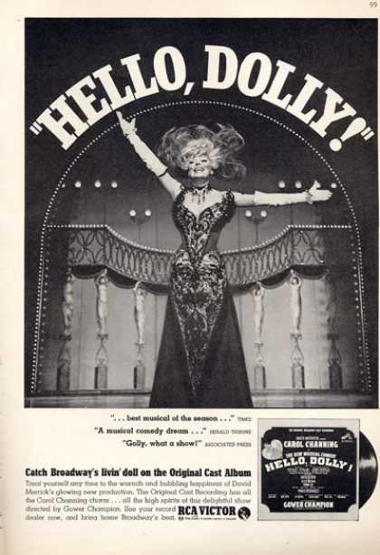 Rca Victor Record Hello Dolly Carol Channing (1964)