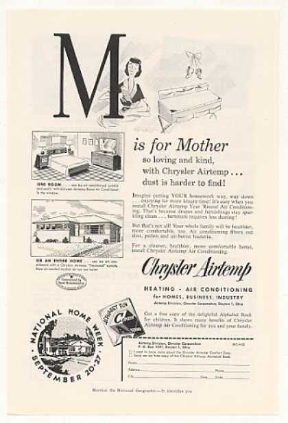 Chrysler Airtemp Heating A/C M is for Mother (1953)
