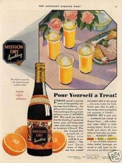Mission Dry Orange Beverage Color (1930)