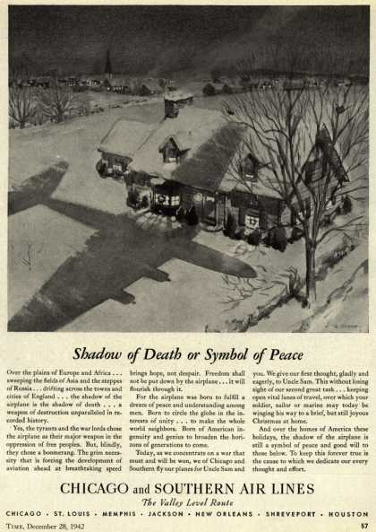 Chicago and Southern Air Line's war support – Shadow of Death or Symbol of Peace (1942)