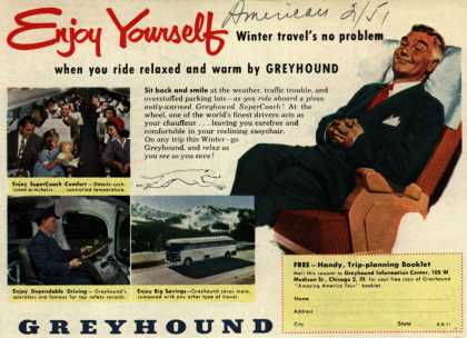 Greyhound's Winter Travel – Enjoy Yourself (1951)