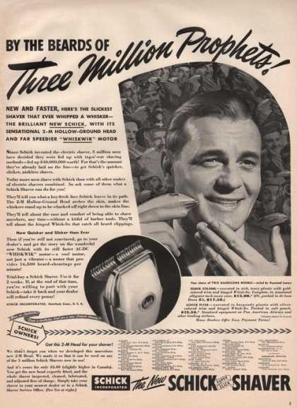 Schick Shaver Three Million Prophets (1941)