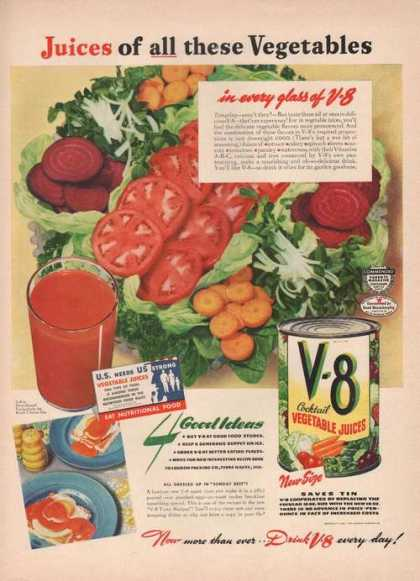 Juices of All These Vegetables V8 (1942)