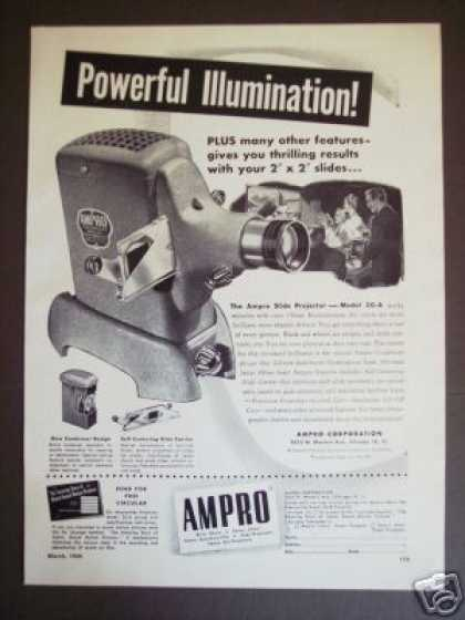 Ampro Model 30-a Slide Projector Camera (1949)