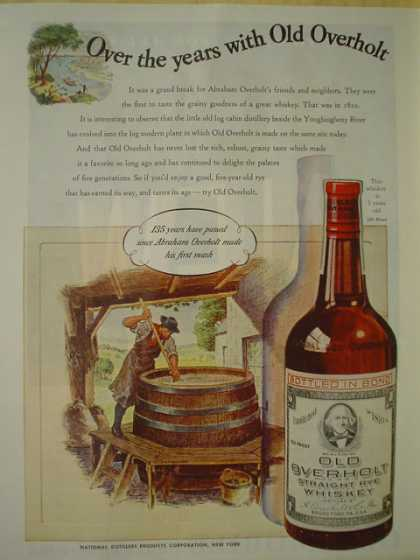 Old Everholt whiskey. 135 years have passed (1945)