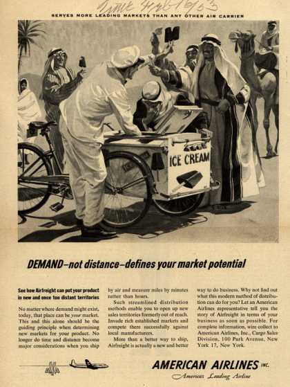 American Airline's Airfreight – DEMAND- not distance-defines your market potential (1953)