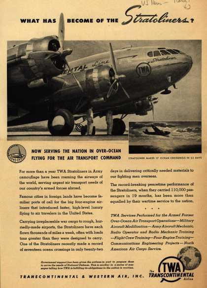 Transcontinental & Western Air's War Support – What Has Become Of The Stratoliners? (1943)
