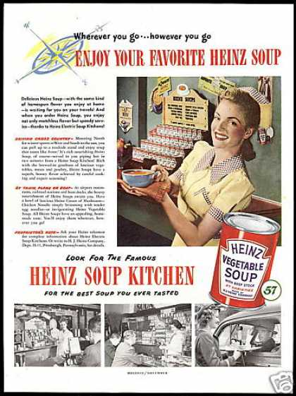 Heinz Electric Soup Kitchen Pretty Woman Photo (1948)