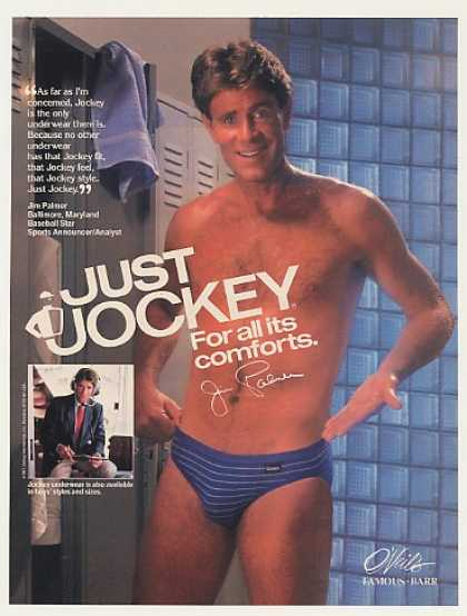 Jim Palmer Jockey Underwear Photo (1988)