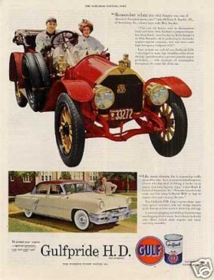 Gulf Oil Ad 1912 Simplex Car (1953)