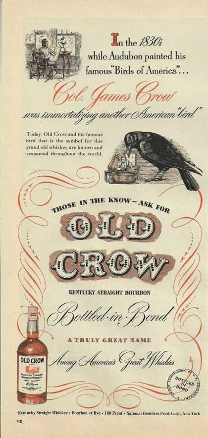 Co James Crow Old Crow Whiskey (1948)