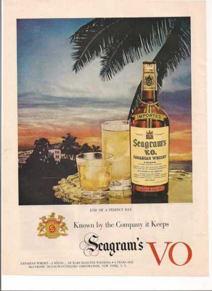 Seagrams Vo Canadian Whisky (1951)