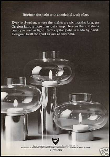 Orrefors Crystal Candle Lamps Photo (1972)