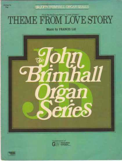 Theme from Love Story – John Brimhall Organ Series Sheet Music (1971)
