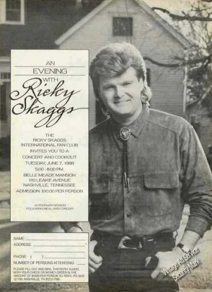 Ricky Skaggs Fan Club Concert & Cookout Promo (1988)