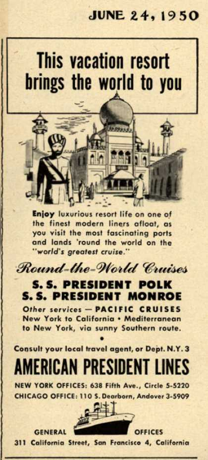 American President Lines – This vacation resort brings the world to you (1950)