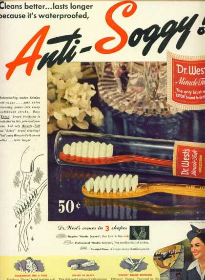 Dr. West's Miracle Tuft Tooth Brush (1945)