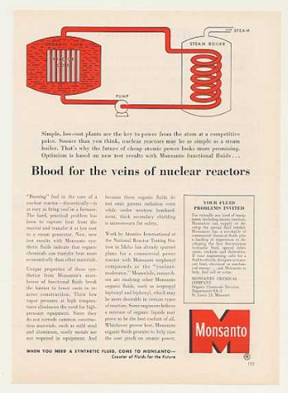Monsanto Chemical Fluid for Nuclear Reactor (1958)