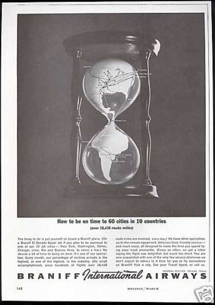 Braniff International Airways Hour Glass Time (1963)