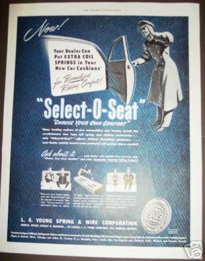 Select-o-seat Car Auto Seat Springs Art (1949)
