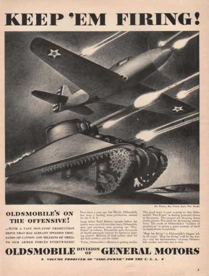 Oldsmobile Keep Em Firing for the Military (1942)