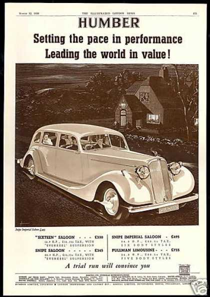 Humber Snipe Imperial Saloon Car Vintage UK (1938)