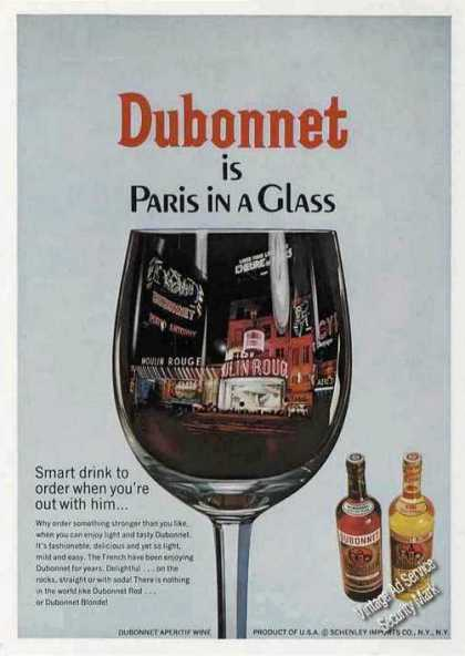 Dubonnet Is Paris In a Glass Wine (1967)