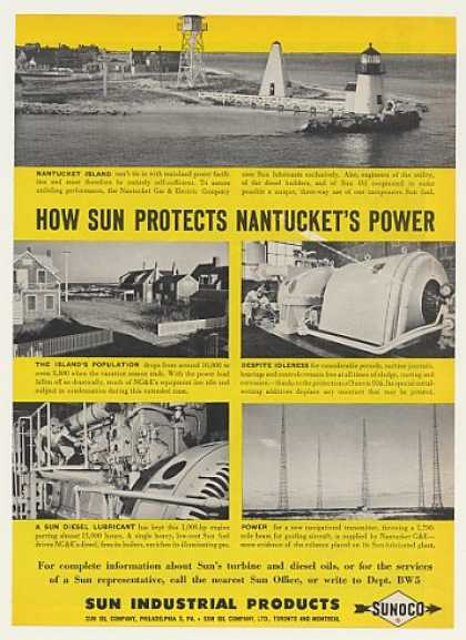 Nantucket Island Gas Electric Power Sun Sunoco (1951)