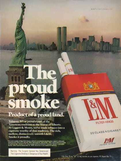 L&M Cigarettes – Trade Center Towers – Sold (1976)