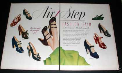 """Air Step Fashion Fair Shoes"" Ad, Ex (1949)"