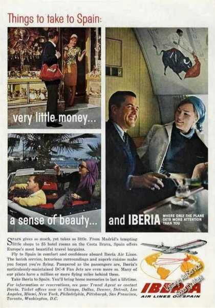 Iberia Air Lines of Spain Nice Photos (1964)
