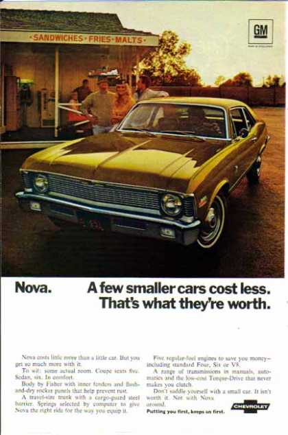 Chevrolet Nova Coupe Gold Car – Sold (1970)