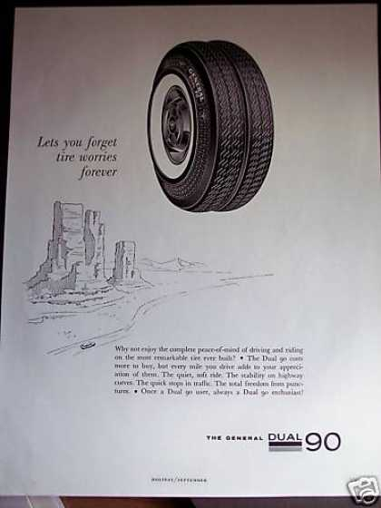 General Dual 90 Whitewall Tires Art (1961)