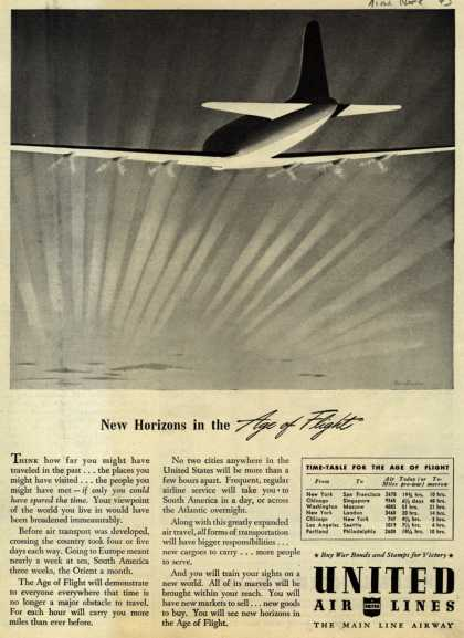 United Air Line's Air Travel – New Horizons in the Age of Flight (1943)