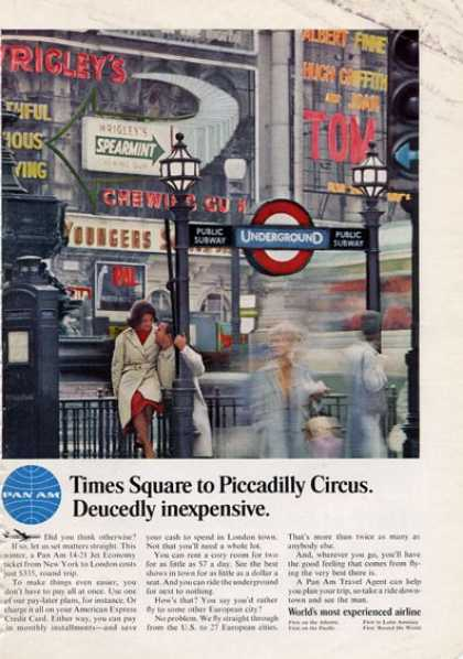 Pan Am Time Square To Piccadilly Circus (1965)