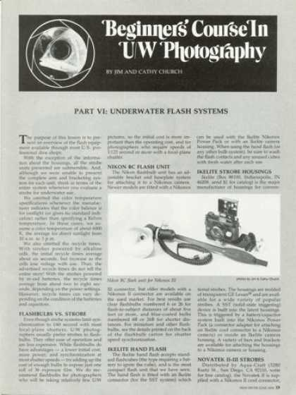 Biginners Underwater Photography Article T (1978)