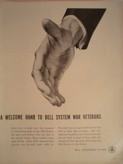 Bell Telephone Welcome hand to War Vets (1944)