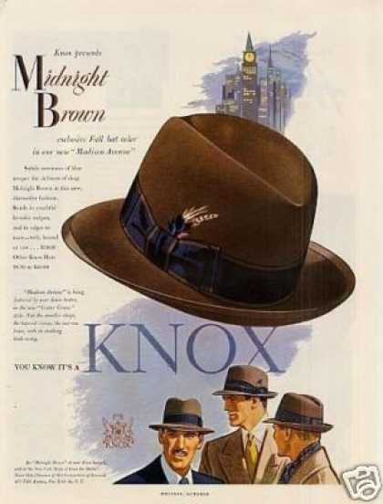 Knox Midnight Brown Hat (1951)