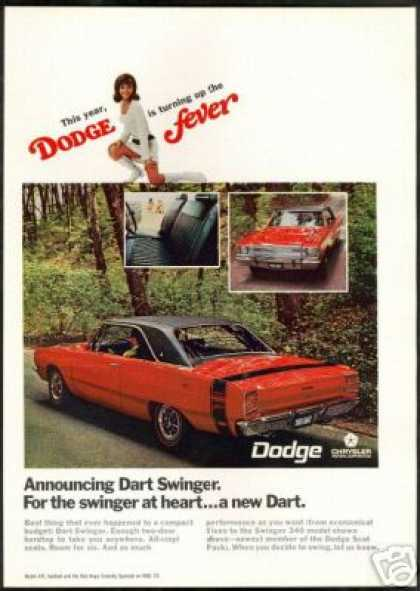 Dodge Dart Red Swinger 340 Photo Vintage (1969)