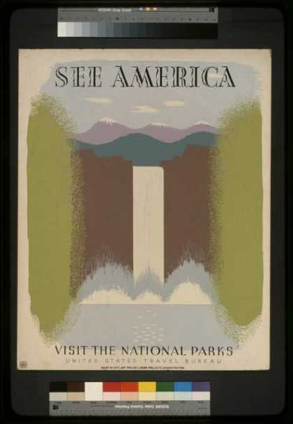 See America – Visit the national parks. (1936)