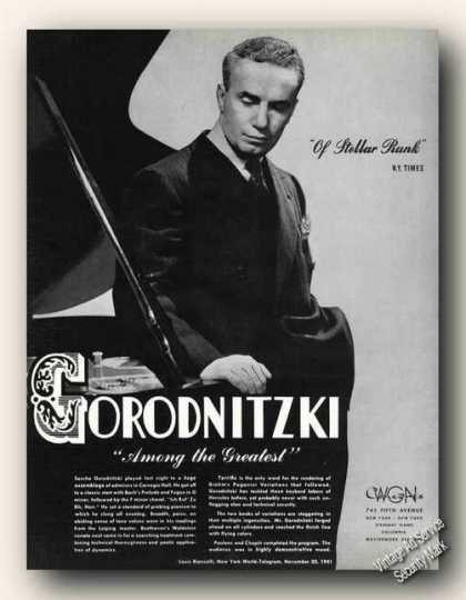 Sascha Gorodnitzki Photo Piano Antique (1942)
