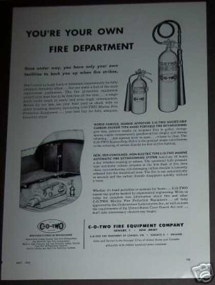 C-o-two Fire Equipment Co Extinguisher (1954)